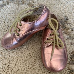 Rose gold girls shoes